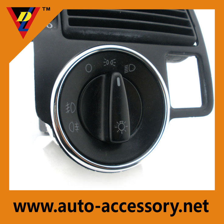 Chrome Light Switch Ring for vw golf accessories