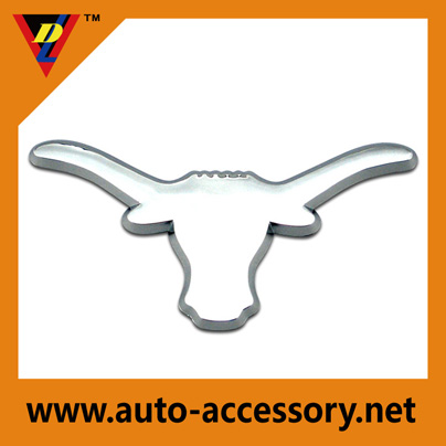 chrome color plastic auto badges for sale