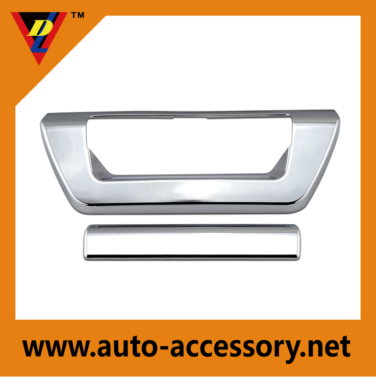 Chrome tailgate door handle cover for 2015 ford truck accessories
