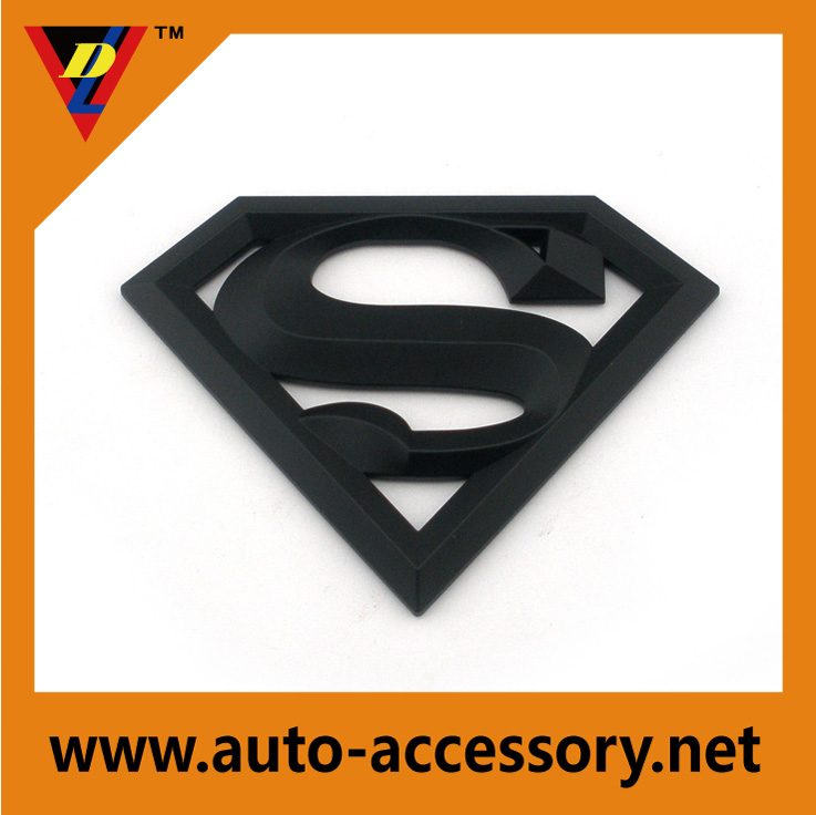matt black superman emblem badges design