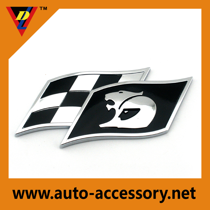 3d stickers chrome car lion emblem